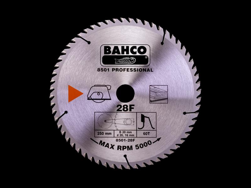 Bahco Kotúč pílový 8501-30F 300x30 - 40Z