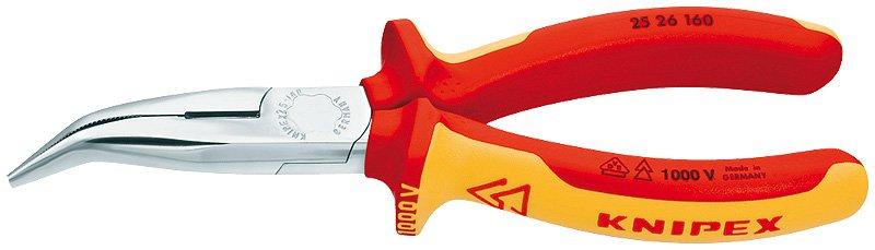 Knipex Kliešte  2526160 polguľaté zahnuté