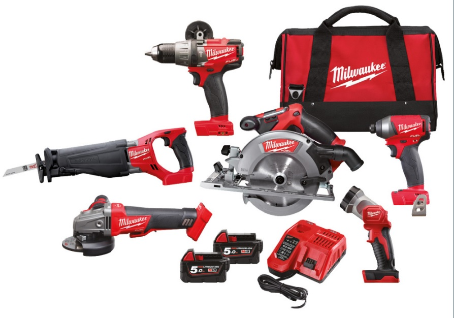 Milwaukee M18 FPP6A-502B   M18  set náradia