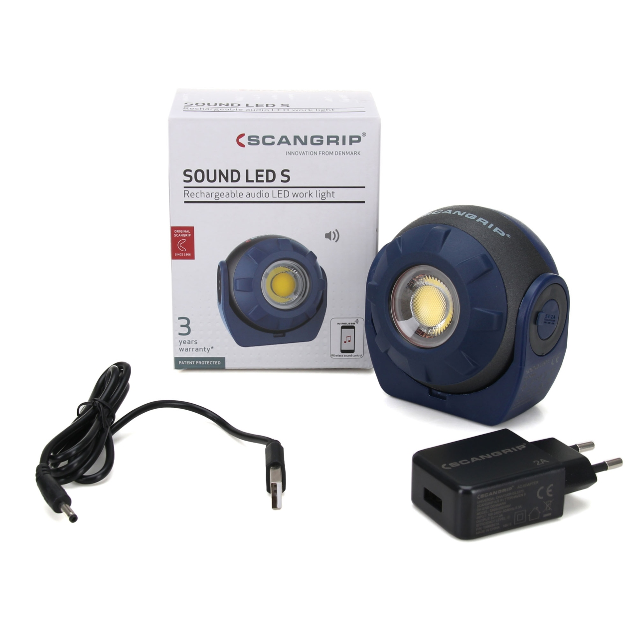 SCANGRIP SOUND LED S 03.5900