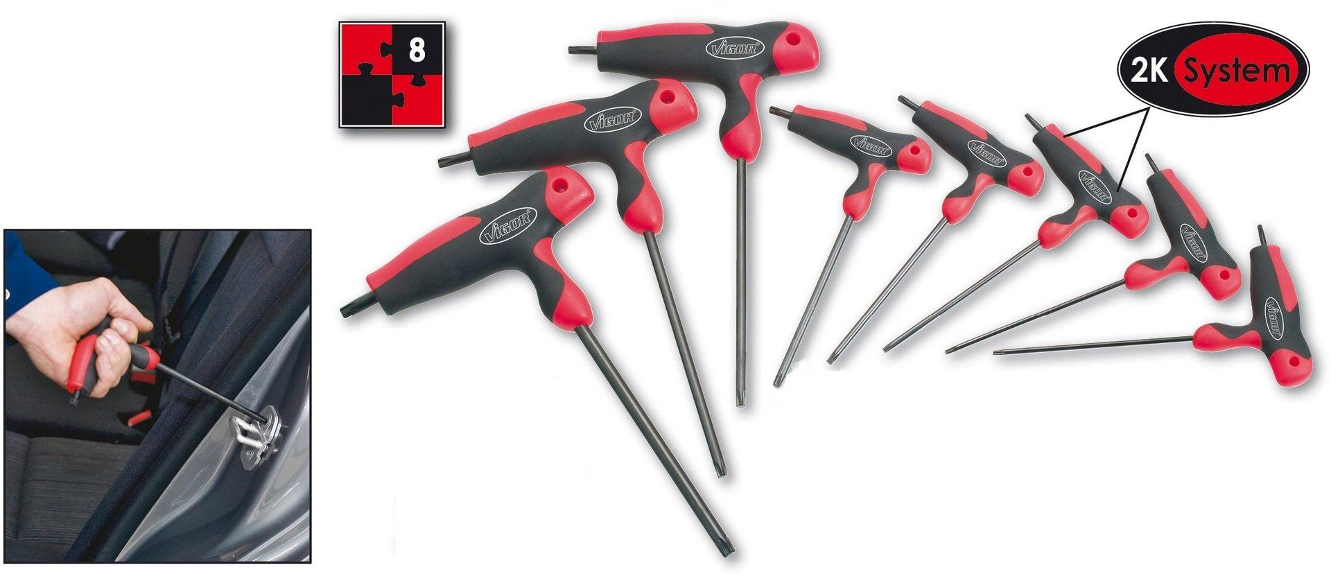 Sada skrutkovačov TORX® s T-rúčkou VIGOR V1410
