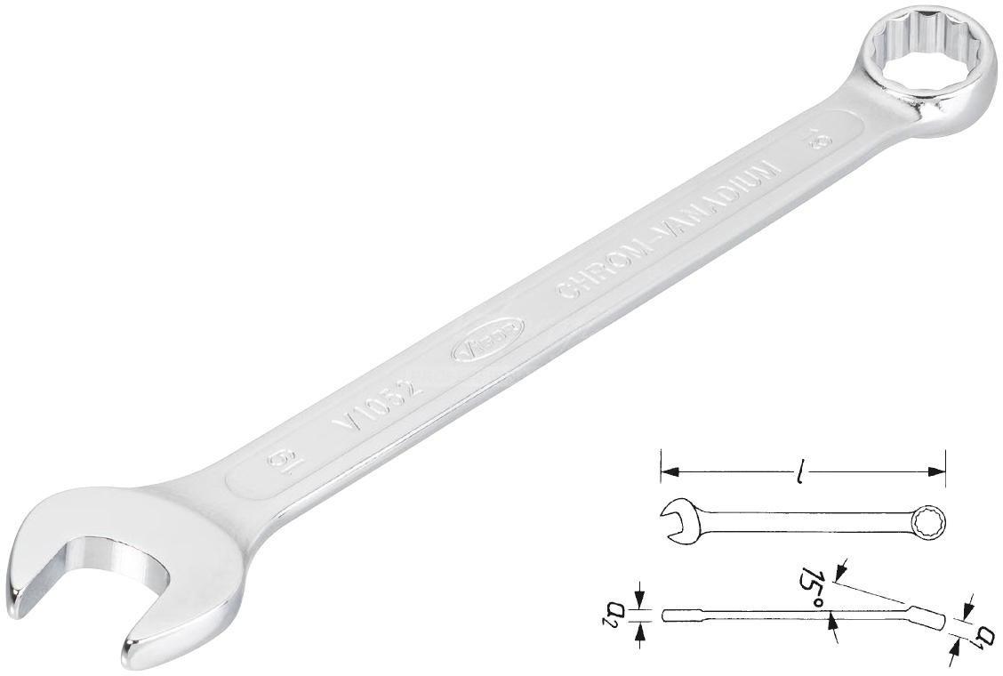 Očkoplochý klúč 18 VIGOR V1673