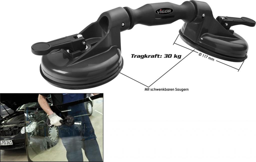 Vakuový manipulátor, prísavka na autosklo VIGOR V2685